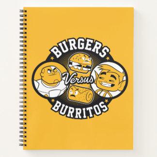 Cuaderno ¡Los titanes adolescentes van! hamburguesas del |