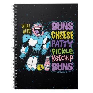 Cuaderno ¡Los titanes adolescentes van! rap de la