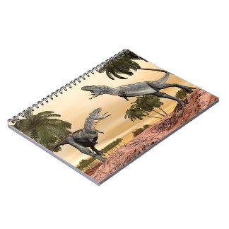 Cuaderno Lucha de los dinosaurios del Aucasaurus - 3D
