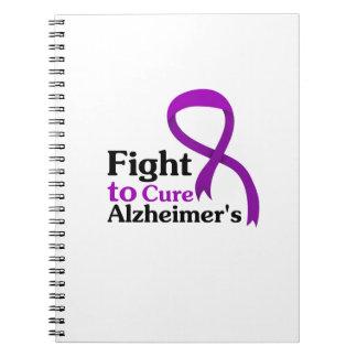 Cuaderno Lucha púrpura de la cinta de la enfermedad de