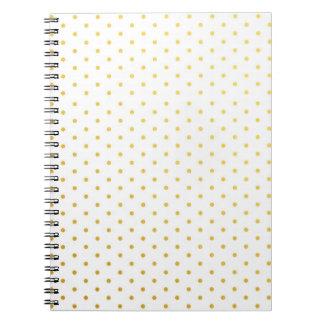 Cuaderno Lunares del oro de la moda