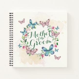 Cuaderno Madre del Guestbook de la guirnalda de la mariposa