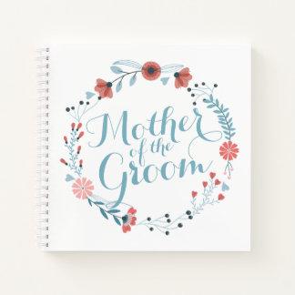 Cuaderno Madre del Guestbook lindo del boda de la guirnalda
