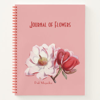 Cuaderno Magnolias rosadas de Pedro-José Redouté
