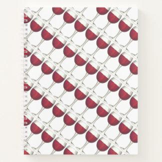 Cuaderno Malbec rojo del Merlot de las uvas de la botella