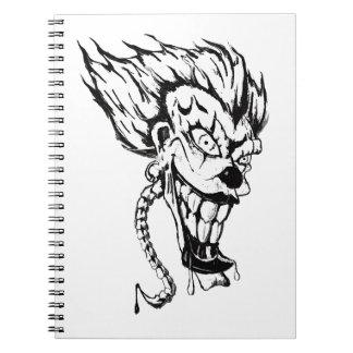 Cuaderno malvado de la foto del payaso (80 páginas