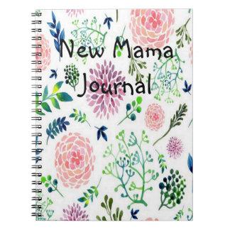 Cuaderno Mamá diario del jardín de la acuarela nueva