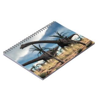 Cuaderno Manada de los dinosaurios del Diplodocus en el