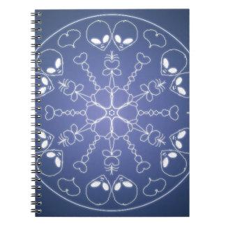 Cuaderno Mandala del gótico de la fantasía Y bola de