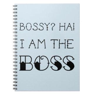 Cuaderno ¿Mandón? ¡Soy el jefe! Regalo de la oficina de la