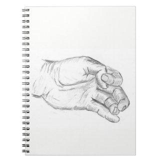 Cuaderno Mano artística