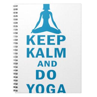 Cuaderno mantenga tranquilo y haga la yoga