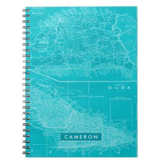 Cuaderno Mapa azul de Cuba