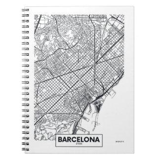 Cuaderno Mapa de la ciudad de Barcelona, España el |