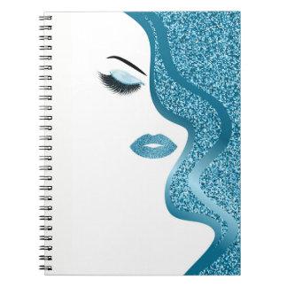 Cuaderno Maquillaje con efecto del purpurina