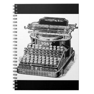 Cuaderno Máquina de escribir de no. 4 de Yost del vintage