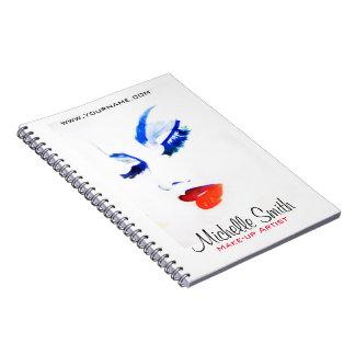 Cuaderno Marcado en caliente del artista de maquillaje de