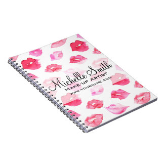 Cuaderno Marcado en caliente rosado del maquillaje del