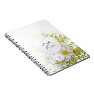 Cuaderno Margaritas en libro de visitas Editable del boda