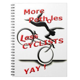 Cuaderno más agujeros menos ciclistas (yay)