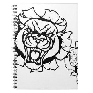 Cuaderno Mascota enojada de Esports del videojugador de la