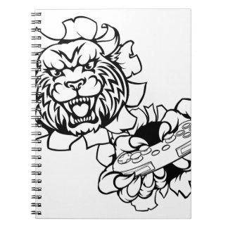 Cuaderno Mascota salvaje del videojugador de Esports del