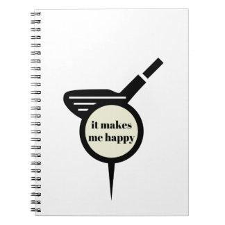 Cuaderno Me hace la taza del Feliz-Golf