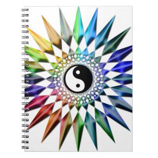 Cuaderno Meditación colorida Tao de Yin Yang de la yoga