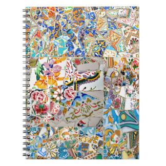 Cuaderno Memorias. Parque Güell. Gran mosaico. Parte 1.
