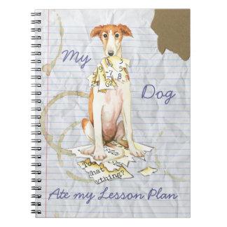 Cuaderno Mi Borzoi comió mi plan de lección