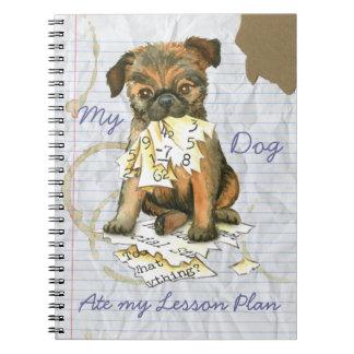 Cuaderno Mi Bruselas Griffon comió mi plan de lección