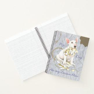 Cuaderno Mi bull terrier comió mi plan de lección