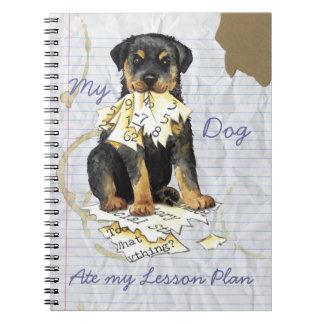 Cuaderno Mi Rottweiler comió mi plan de lección