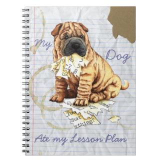 Cuaderno Mi Shar-Pei chino comió mi plan de lección