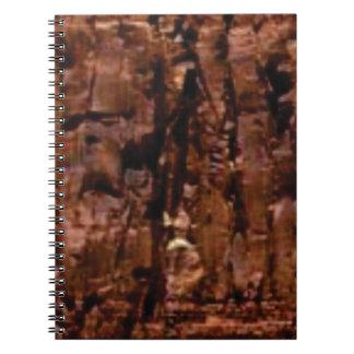 Cuaderno migaja marrón de la roca