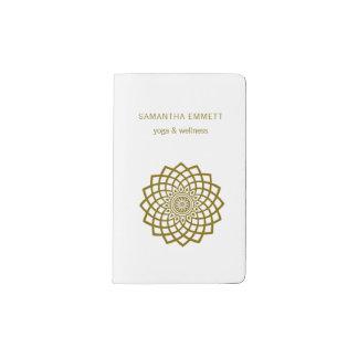 Cuaderno minimalista de la mandala del instructor