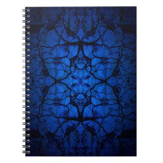 Cuaderno Modelo agrietado azul de la pared