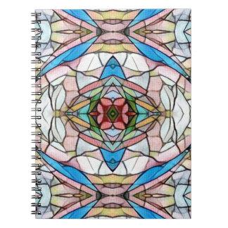 Cuaderno Modelo artístico infrecuente hermoso del vitral
