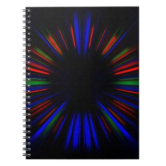 Cuaderno Modelo azul y rojo del starburst