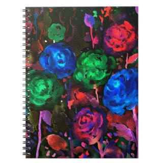 Cuaderno Modelo color de rosa oscuro de la acuarela