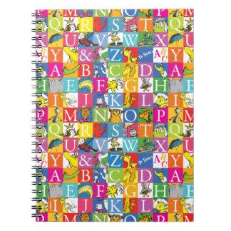 Cuaderno Modelo colorido de la letra de molde de ABC del