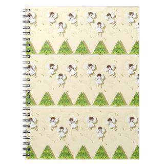 Cuaderno Modelo de los ángeles del navidad