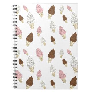Cuaderno Modelo del cono de helado