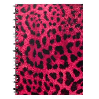 Cuaderno Modelo del guepardo de las rosas fuertes