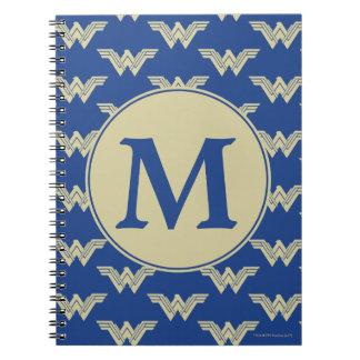 Cuaderno Modelo del logotipo de la Mujer Maravilla del