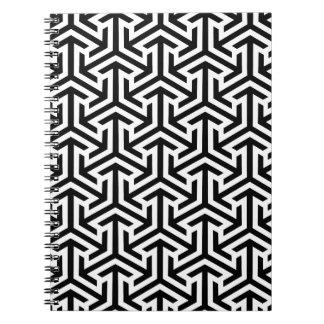 Cuaderno Modelo geométrico blanco y negro