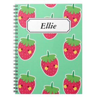 Cuaderno Modelo lindo caprichoso del carácter de las fresas