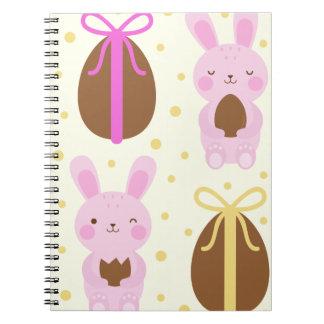 Cuaderno Modelo lindo de los conejitos de pascua y de los
