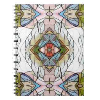 Cuaderno Modelo moderno artístico fresco del vitral