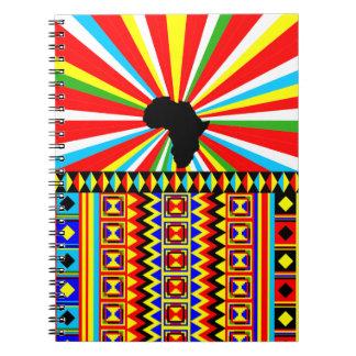 Cuaderno Modelo tribal de la impresión del paño de Kente